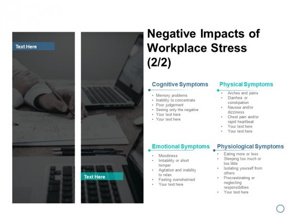 Negative Impacts Of Workplace Stress Business Ppt PowerPoint Presentation File Designs Download