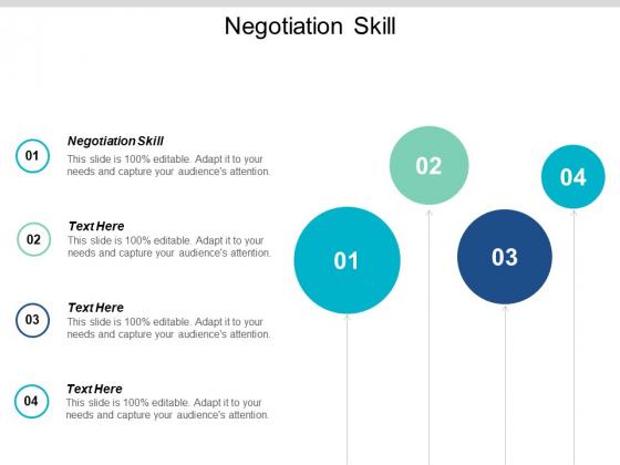 Negotiating Skills Ppt PowerPoint Presentation Slides Example Topics Cpb