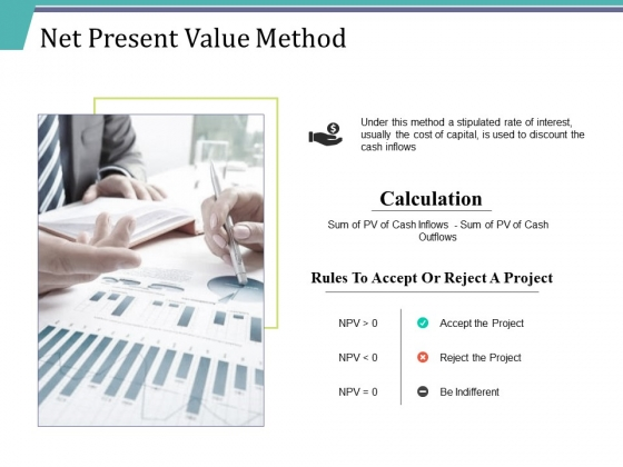 Net Present Value Method Ppt PowerPoint Presentation Pictures Background