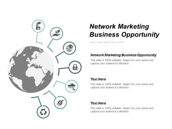 Network Marketing Business Opportunity Ppt Powerpoint Presentation Portfolio Outline Cpb