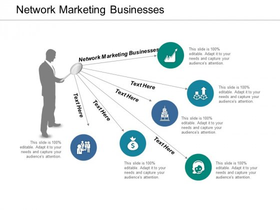 Network Marketing Businesses Ppt PowerPoint Presentation Professional Grid Cpb