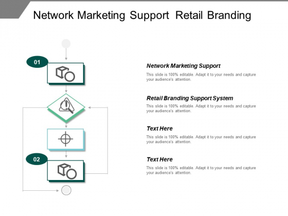 Network Marketing Support Retail Branding Support System Ppt PowerPoint Presentation Infographic Template Icon