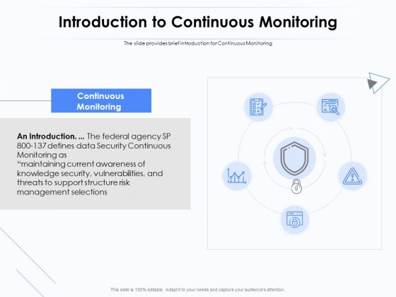 Network Monitoring Tool Overview Introduction To Continuous Monitoring Ppt PowerPoint Presentation Model Slide Download PDF