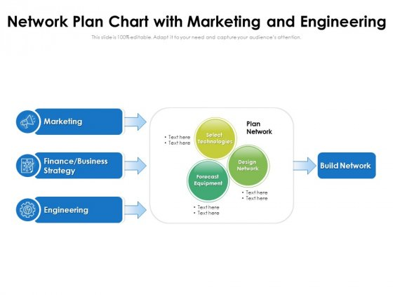 Network Plan Chart With Marketing And Engineering Ppt PowerPoint Presentation Gallery Files PDF