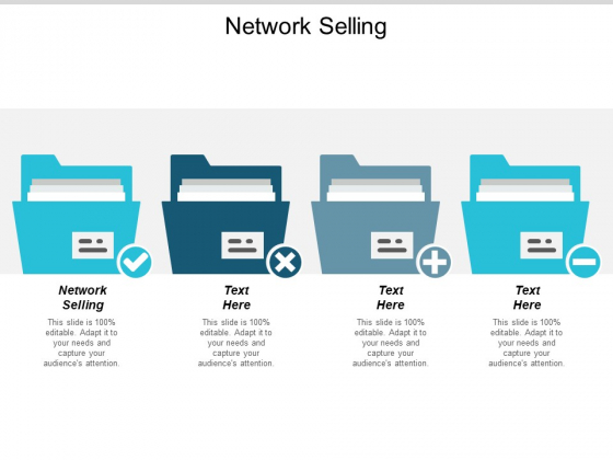 Network Selling Ppt PowerPoint Presentation Summary Rules Cpb