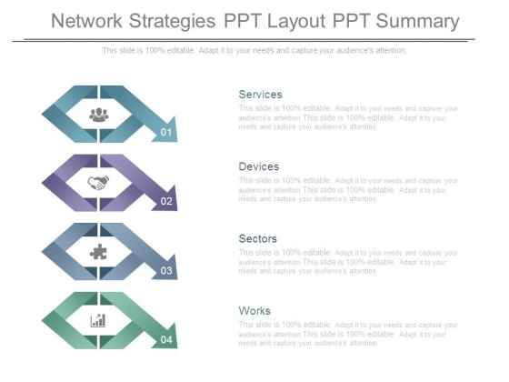 Network Strategies Ppt Layout Ppt Summary