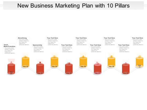 New Business Marketing Plan With 10 Pillars Ppt PowerPoint Presentation File Show PDF