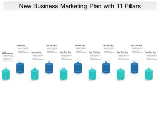 New Business Marketing Plan With 11 Pillars Ppt PowerPoint Presentation Background Designs PDF