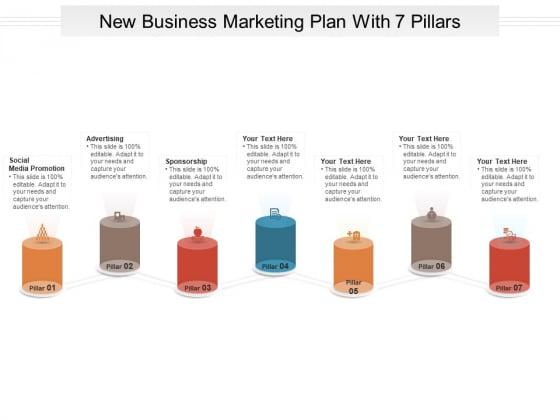 New Business Marketing Plan With 7 Pillars Ppt PowerPoint Presentation Portfolio Guidelines PDF