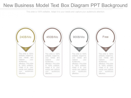 New Business Model Text Box Diagram Ppt Background