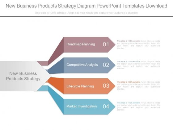 New Business Products Strategy Diagram Powerpoint Templates Download