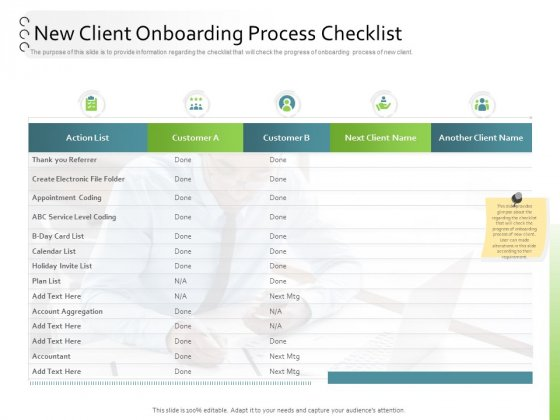 New Client Onboarding Automation New Client Onboarding Process Checklist Download PDF