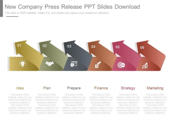 New Company Press Release Ppt Slides Download