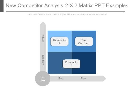 New Competitor Analysis 2 X 2 Matrix Ppt Examples