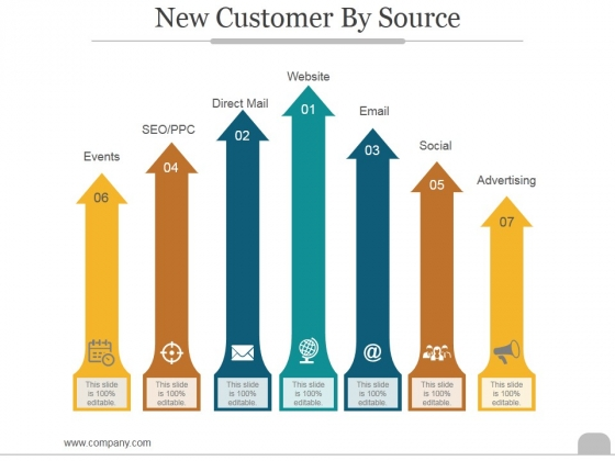 New Customer By Source Ppt PowerPoint Presentation Samples