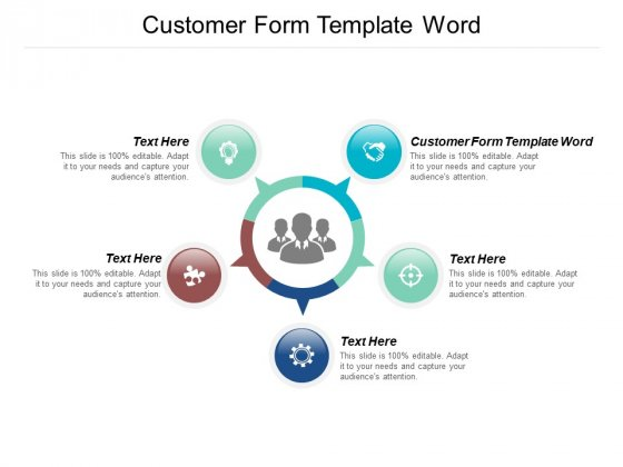 New Customer Form Template Word Ppt PowerPoint Presentation Portfolio Outline Cpb