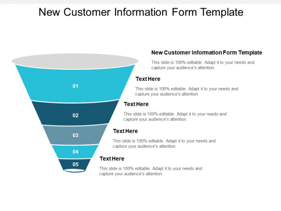 New Customer Information Form Template Ppt PowerPoint Presentation Ideas Clipart Cpb