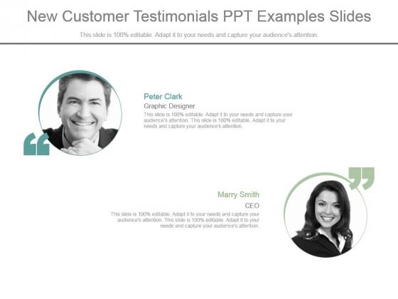 New Customer Testimonials Ppt Examples Slides