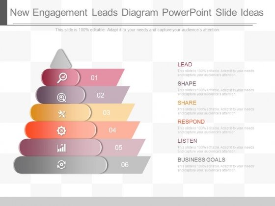 New Engagement Leads Diagram Powerpoint Slide Ideas