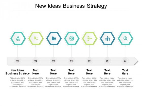 New Ideas Business Strategy Ppt PowerPoint Presentation Portfolio Elements Cpb Pdf
