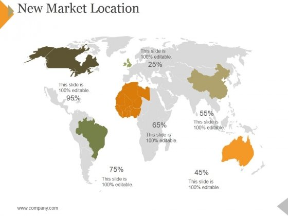 New Market Location Ppt PowerPoint Presentation Ideas Good