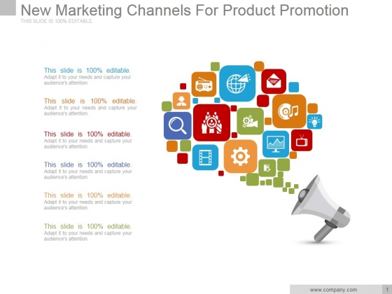 New Marketing Channels For Product Promotion Ppt PowerPoint Presentation Infographics