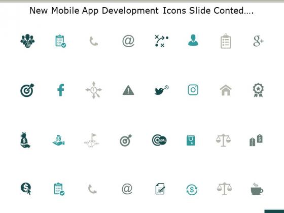 New Mobile App Development Icons Slide Conted Ppt PowerPoint Presentation Outline Smartart