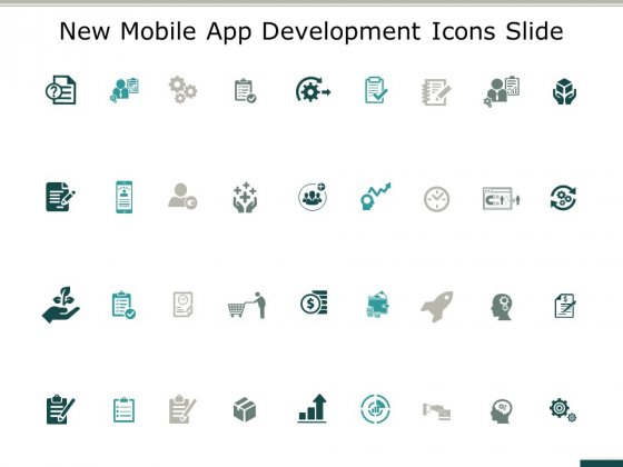 New Mobile App Development Icons Slide Ppt PowerPoint Presentation Show Rules