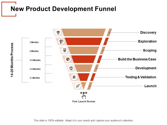 New Product Development Funnel Ppt PowerPoint Presentation File Gallery
