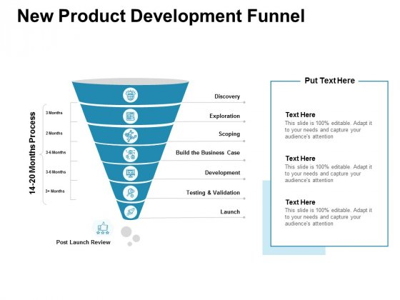 New Product Development Funnel Ppt PowerPoint Presentation Styles Graphics