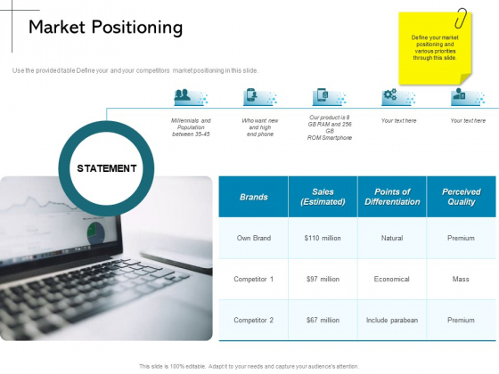 New Product Introduction In The Market Market Positioning Ppt PowerPoint Presentation Icon Layout PDF