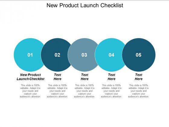 New Product Launch Checklist Ppt PowerPoint Presentation Template Cpb