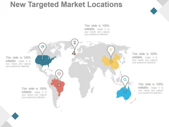 New Targeted Market Locations Ppt PowerPoint Presentation Model