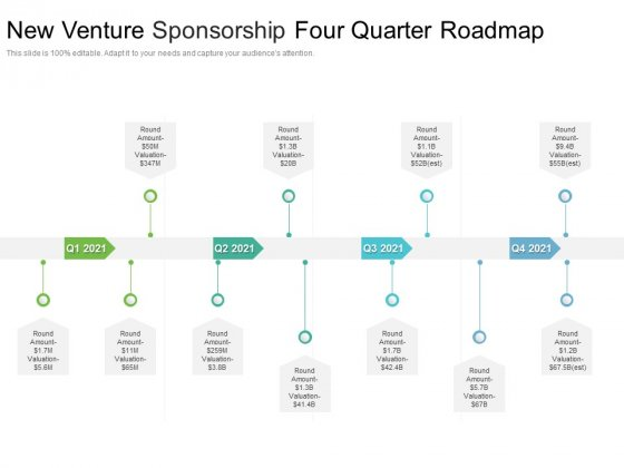 New_Venture_Sponsorship_Four_Quarter_Roadmap_Topics_Slide_1