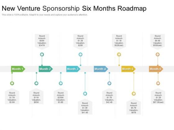New Venture Sponsorship Six Months Roadmap Graphics