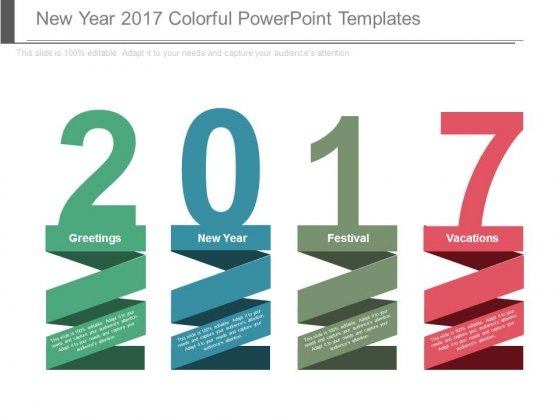 New Year 2017 Colorful Powerpoint Templates