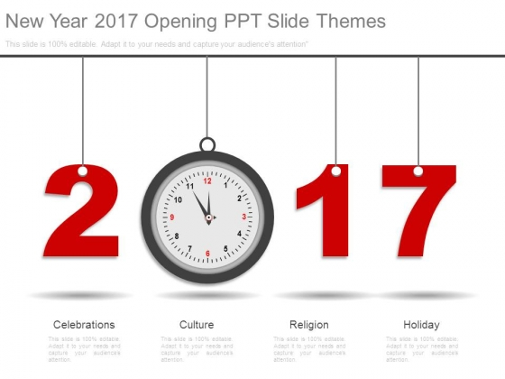 New Year 2017 Opening Ppt Slide Themes