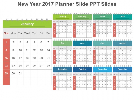 New Year 2017 Planner Slide Ppt Slides