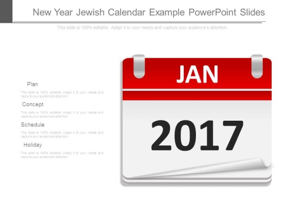 New Year Jewish Calendar Example Powerpoint Slides