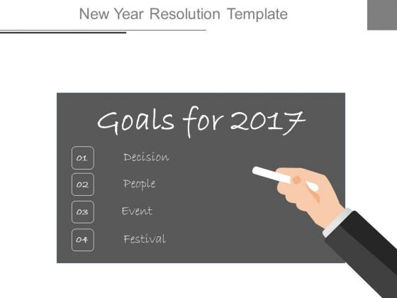 New Year Resolution Template