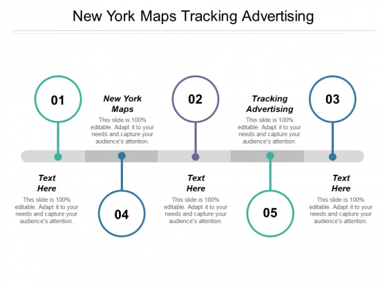 New York Maps Tracking Advertising Ppt PowerPoint Presentation Summary Slideshow