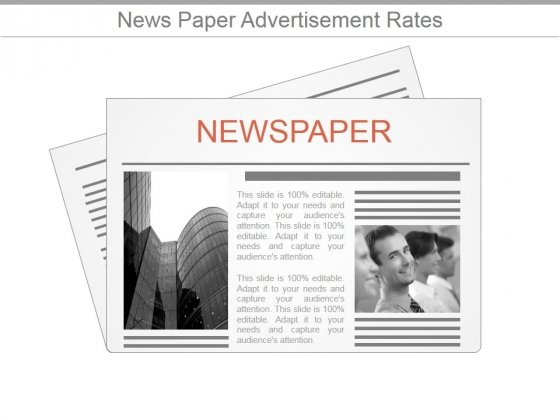 News Paper Advertisement Rates Ppt PowerPoint Presentation Slides