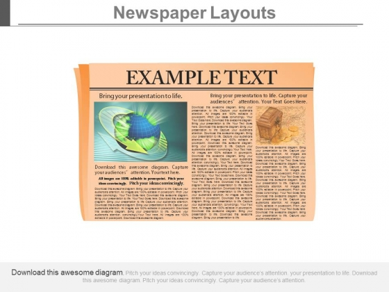 News Paper Infographics Diagram Powerpoint Slides