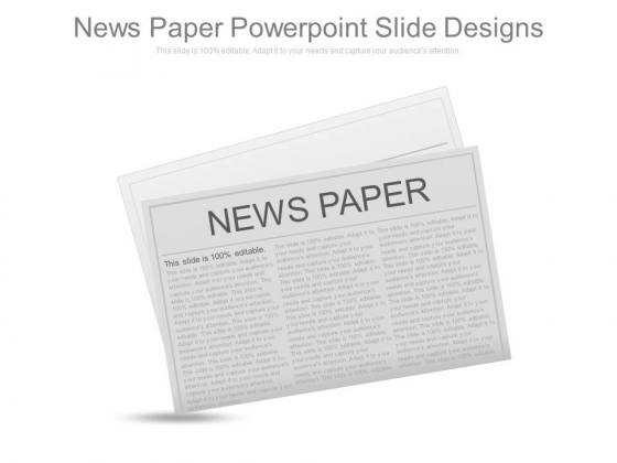 News Paper Powerpoint Slide Designs