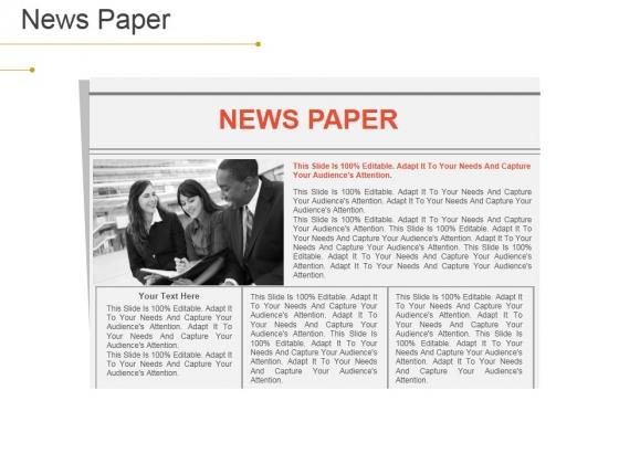 News Paper Ppt PowerPoint Presentation File Slides