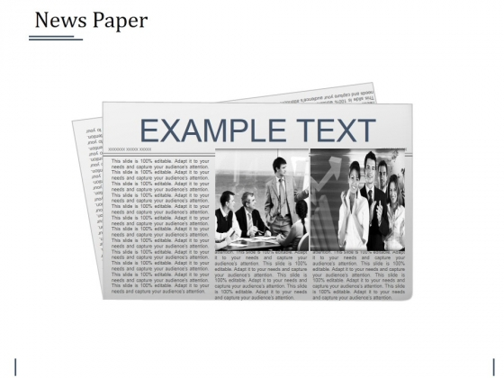 News Paper Ppt PowerPoint Presentation Icon Vector