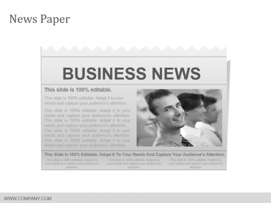 News Paper Ppt PowerPoint Presentation Layouts Slides