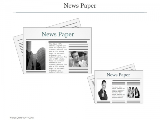 News Paper Ppt PowerPoint Presentation Microsoft