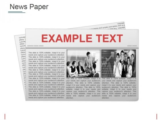 News Paper Ppt PowerPoint Presentation Summary Master Slide