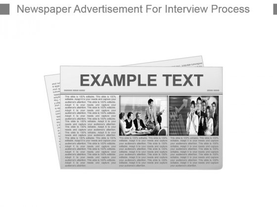 Newspaper Advertisement For Interview Process Powerpoint Slide Download